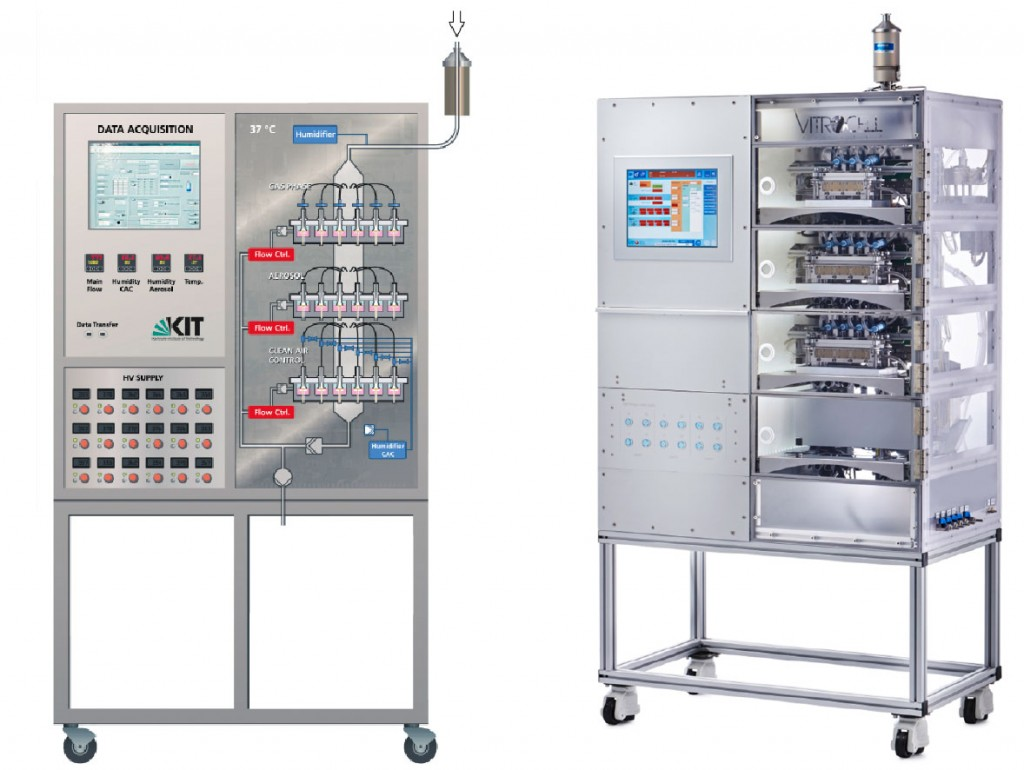 Automatisiertes Expositionssystem für Zellkulturen an der Gas ...